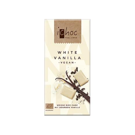 ichoc choklad, White vanilla 80g